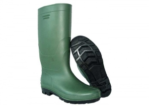 green fishing work boots