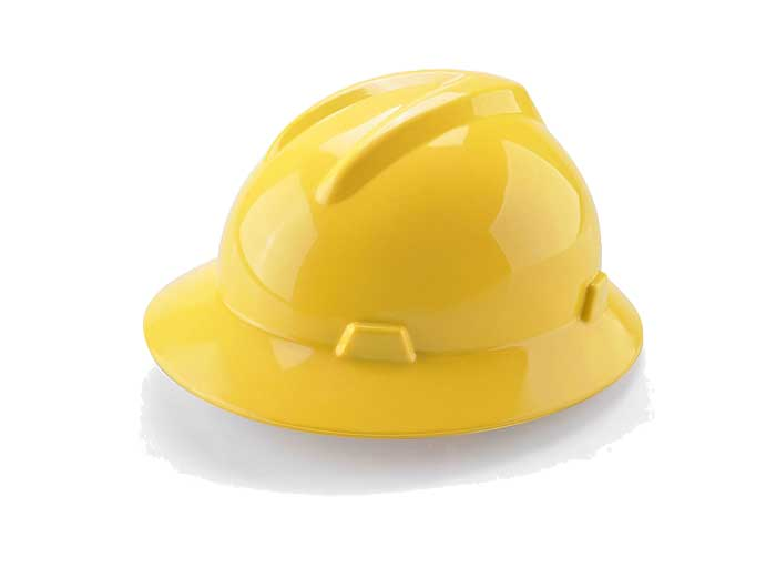 full brim safety hard hat