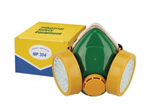double-cartridge dust mask