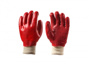 Knitted PVC Gloves