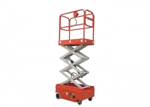 Hydraulic scissor lift.
