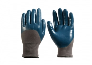 Knitted Nitrile Coated Gloves
